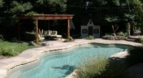 Freeform Swimming Pool with Pergola