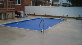 Inground Swimming Pool with Cover