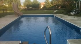 Inground Swimming Pool with Slide