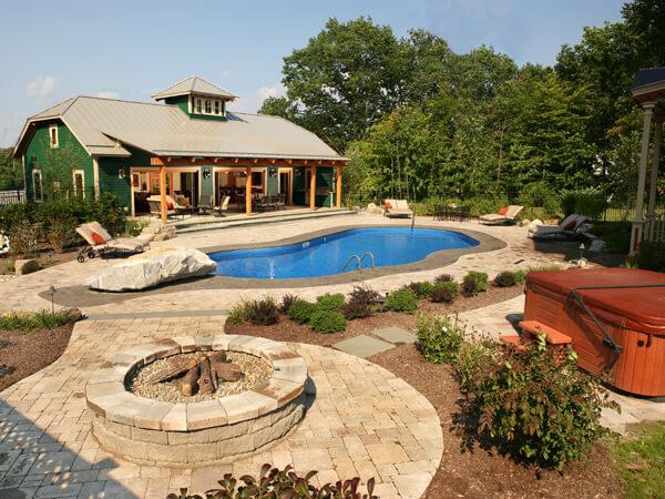 Chicago backyard Glen Ellyn outdoor living Elmhurst pool on Mountain Backyard Ideas id=73575